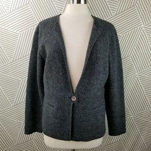 Talbots Felted Wool Blazer Jacket size Large